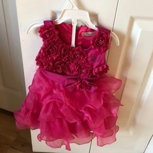 Other - Pink flower girl dress